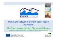 Plánování a stavební činnost uzpůsobené povodním ...