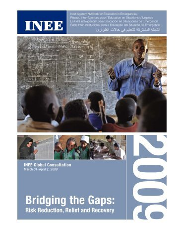 Bridging the Gaps: Risk Reduction, Relief and Recovery - INEE Toolkit