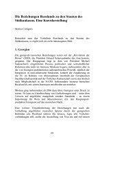 Die Beziehungen Russlands zu den Staaten des Südkaukasus ...