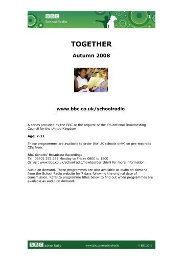 Together – Autumn 2008 - BBC