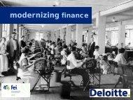 Modernizing Finance - FEI Canada