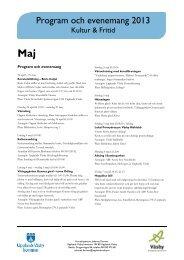 Programblad maj 2013 - Upplands Väsby kommun
