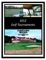2012 Golf Tournaments - Copetown Woods Golf Club