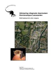 2008.04 Advisering vleermuizen Kenniscampus ... - Zoogdierwinkel