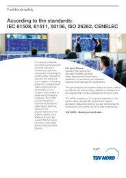 IEC 61508, 61511, 50156, ISO 26262, CENELEC - TÜV NORD