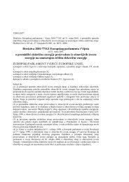 Direktiva 2001/77/EZ Europskog parlamenta i Vijeća o promidžbi ...