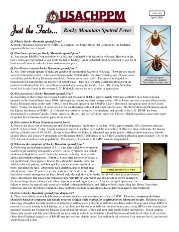 Rocky Mountain Spotted Fever - Armed Forces Pest Management ...