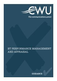 bt performance management and appraisal - the CWU