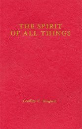 THE SPIRIT of All Things - W