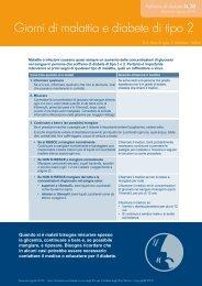 Giorni di malattia e diabete di tipo 2 - NDSS