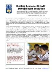 Building Economic Growth through Basic Education