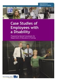 Case Studies of Employees with a Disability - Department of ...