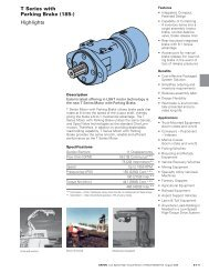 T Series with Parking Brake (185-) Highlights - PMCCatalogue