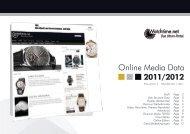 Online Media Data 2011/2012 - Das Uhren Portal: Watchtime.net