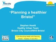 4. Stephen Hewitt – Planning a healthier Bristol - Town and Country ...