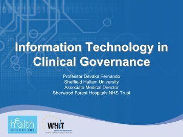 Information Technology in Clinical Governance