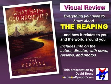 THE REAPING Visual Review - Visual Hollywood