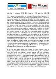zaterdag 12 oktober 2013: S.V. Capelle – FC Lienden 2-3 (1-2) S.V. ...