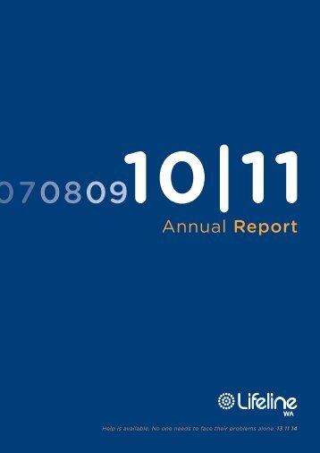 Lifeline WA Annual Report 2010/11