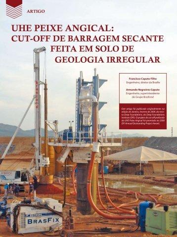 UHE PEIXE ANGICAL: - Revista Fundações & Obras Geotécnicas