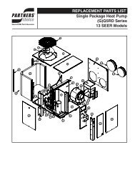 REPLACEMENT PARTS LIST Single Package ... - R&E Supply Co.
