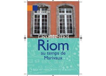 Livret-jeu.xp7:Livret-jeu Marivaux - Riom Communauté