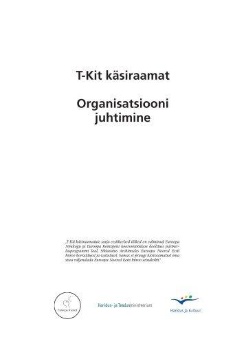 T-Kit käsiraamat Organisatsiooni juhtimine - Euroopa Noored