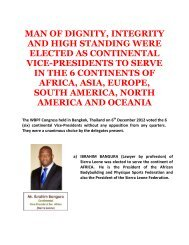 man of dignity, integrity and high standing were elected as ... - ABBF