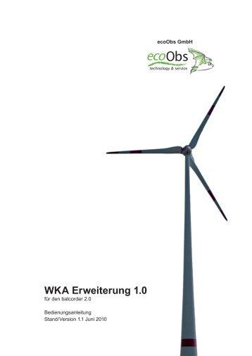 WKA Erweiterung (Version 1.1, Juni 2010) - ecoObs GmbH