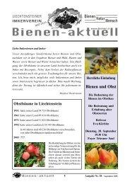 bienen-aktuell Nr. 38 - Liechtensteiner Imkerverein