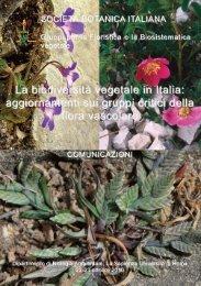 La biodiversità vegetale in Italia - Società Botanica Italiana
