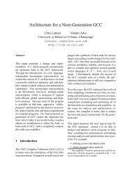 Architecture for a Next-Generation GCC