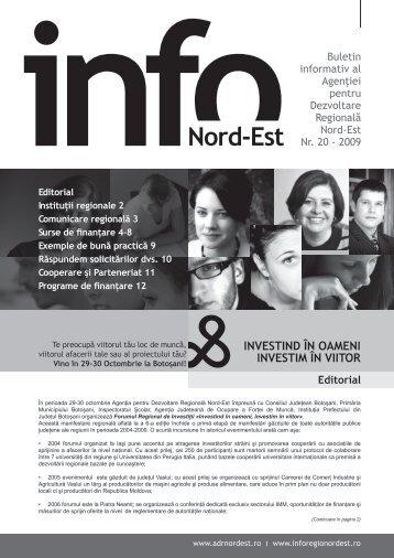 INFO Nord-Est, nr. 20 / 2009 - Agentia pentru Dezvoltare Regionala ...