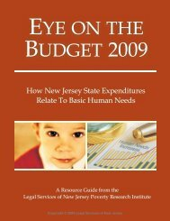Eye On the Budget 2009 - Legal Services of New Jersey
