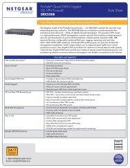 ProSafe® Quad WAN Gigabit SSL VPN Firewall Data Sheet SRX5308