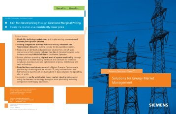 Energy Market Management Booklet - Siemens