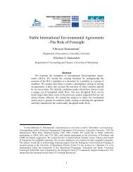 Stable International Environmental Agreements -The Role of Foresight