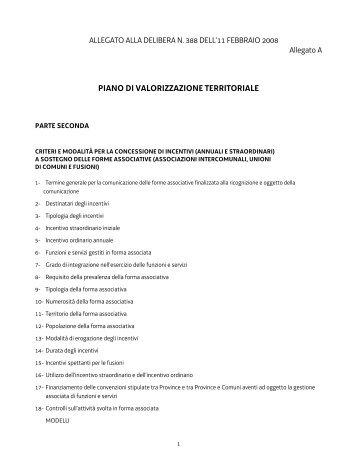 LA GIUNTA REGIONALE - Sistema delle autonomie locali