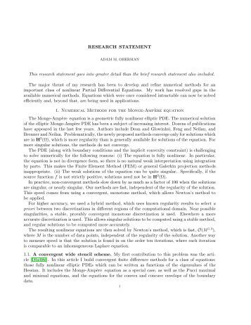 Research Statement Overview My Research Is In The Area Of