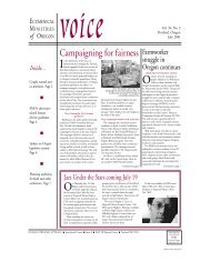 Voice July 01 - Ecumenical Ministries of Oregon