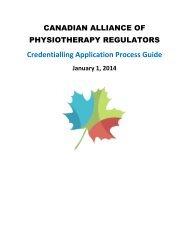 Credentialling Application Process Guide - Canadian Alliance of ...