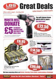 Twice! Offers valid 1st April – 31st May 2012 - LBS Builders Merchants