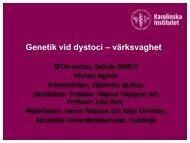 Genetiskt inflytande vid dystoci. - SFOG