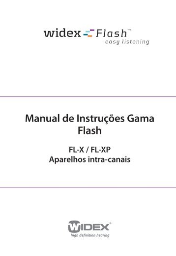 Manual de Instruções Gama Flash - Widex