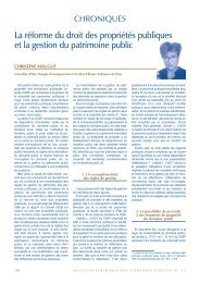 La réforme du droit des propriétés publiques et la gestion du ... - Efe