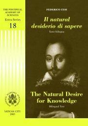 Il natural desiderio di sapere - Pontifical Academy of Sciences