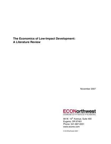 The Economics of Low-Impact Development: A Literature Review