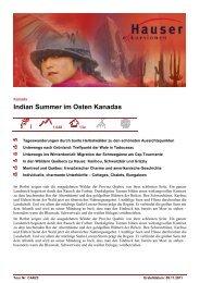 Indian Summer im Osten Kanadas