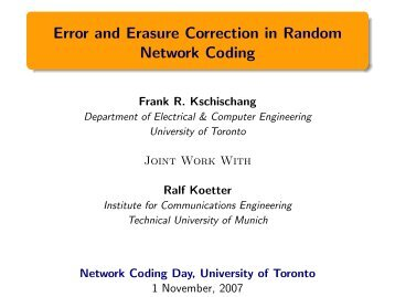 Slides (PDF) - University of Toronto