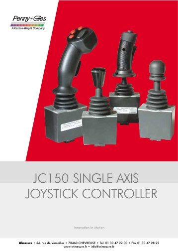 JC150 SINGLE AXIS JOYSTICK CONTROLLER - Wimesure